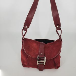 St. Johns Bay Red Hobo Purse Bag